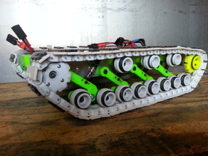 Tank Track, Double Idler, Arms, Beams