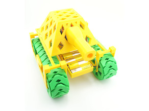 RC Tank that Prints without Support, Assembles without Hardware and Wires without Soldering