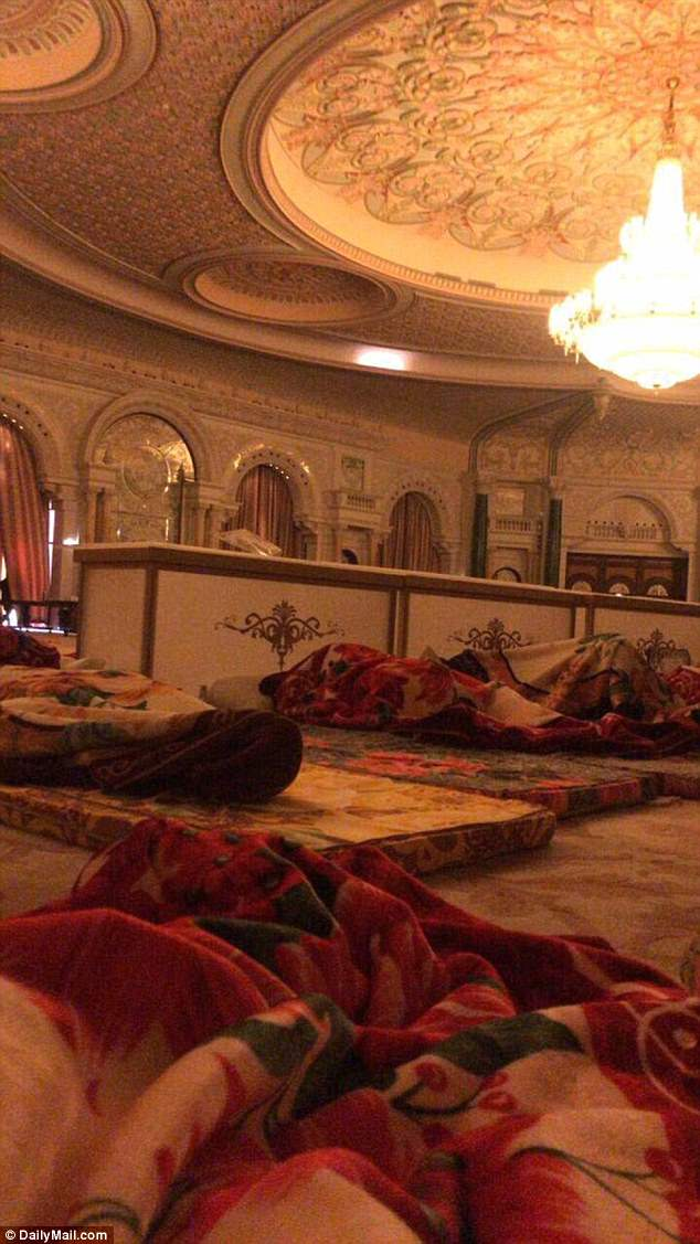 Earlier in November, the crown rince Mohammed bin Salman, 32, ordered the arrests of more than 40 princes and government ministers in a corruption probe and had them sleep on thin mattresses in the function room of the Ritz Carlton