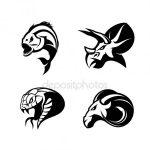 Ниндзя знак – Набор японских ниндзя логотип. Катана мастер знаки дизайн. Винтажные ниндзя талисман знак. Боевые искусства команда футболку иллюстрации концепции на гранж-фон– Векторная картинка