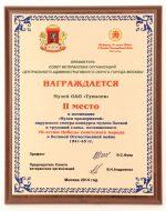 Музей окб туполева – Музей ОКБ А.Н. Туполева занял 2-е место в смотре-конкурсе музеев ЦАО г. Москвы (21.11.2014)