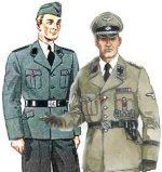 Форма сс и форма гестапо – немецкого офицера, солдата, парадная, войск гестапо, кто шил