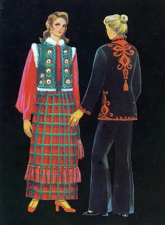 9d2ffca072c0a2 Не тільки в сільських регіонах, а й у найбільших містах український костюм  був прикладом для створення модного одягу з використанням народних мотивів.