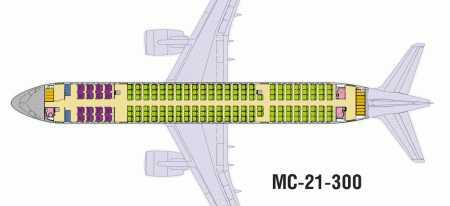Схема салона мс 21 – Самолет МС-21: летно-технические ...